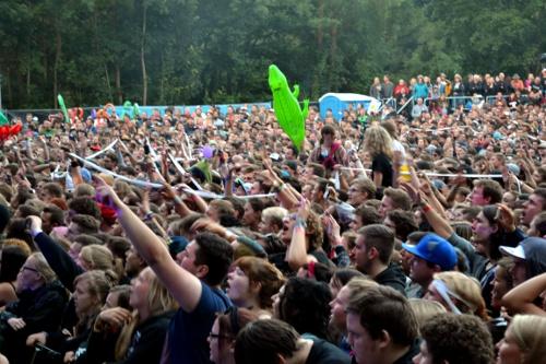 Fans vor der Hauptbühne
