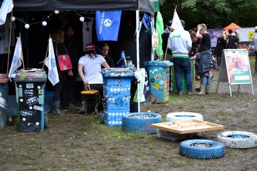 Festivalstand von Viva con agua